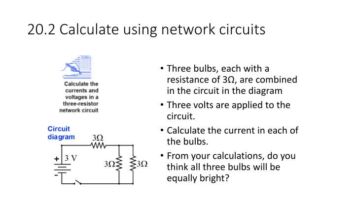 20.2 Calculate using network circuits
