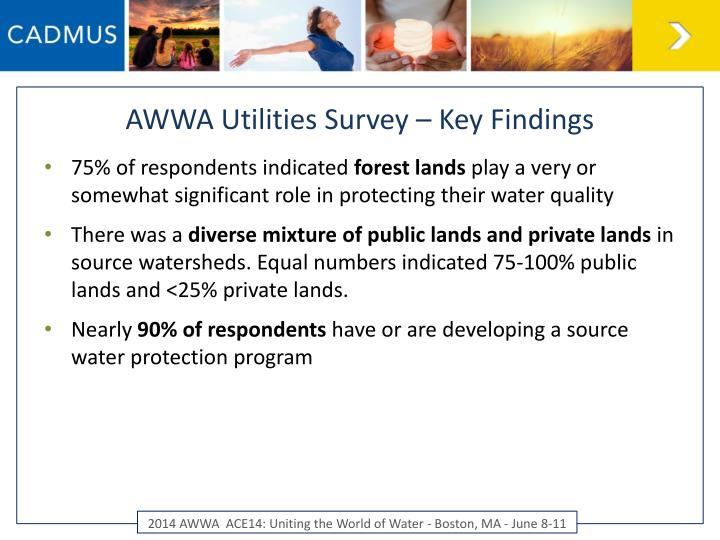 AWWA Utilities Survey – Key Findings