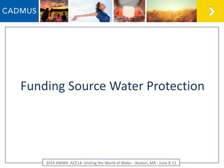 Funding Source Water Protection