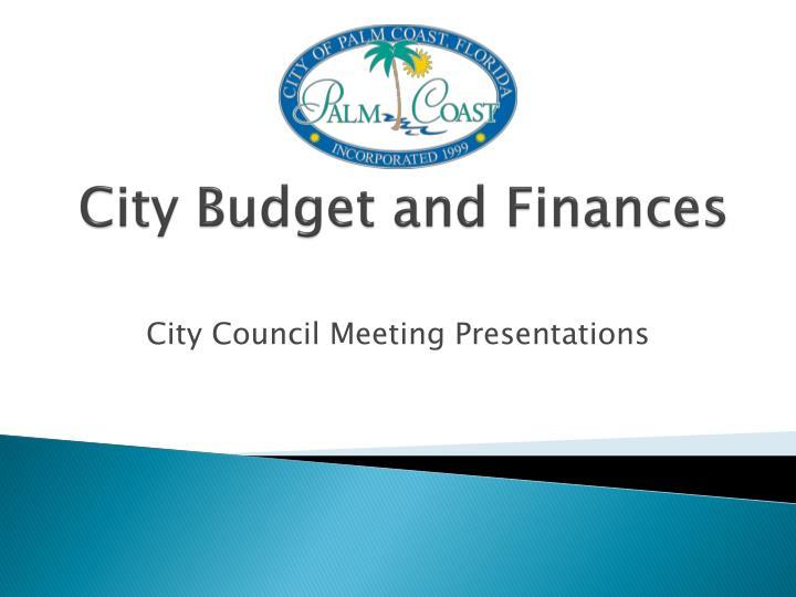City Budget and Finances