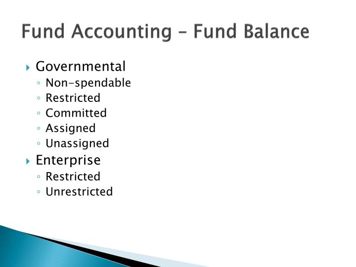 Fund Accounting – Fund Balance