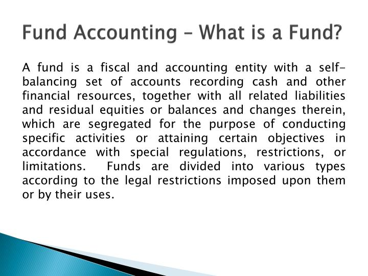 Fund Accounting – What is a Fund?