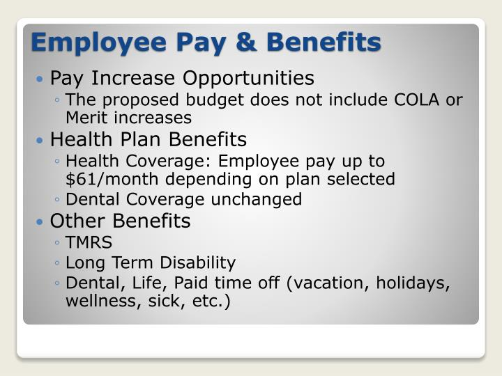 Pay Increase Opportunities