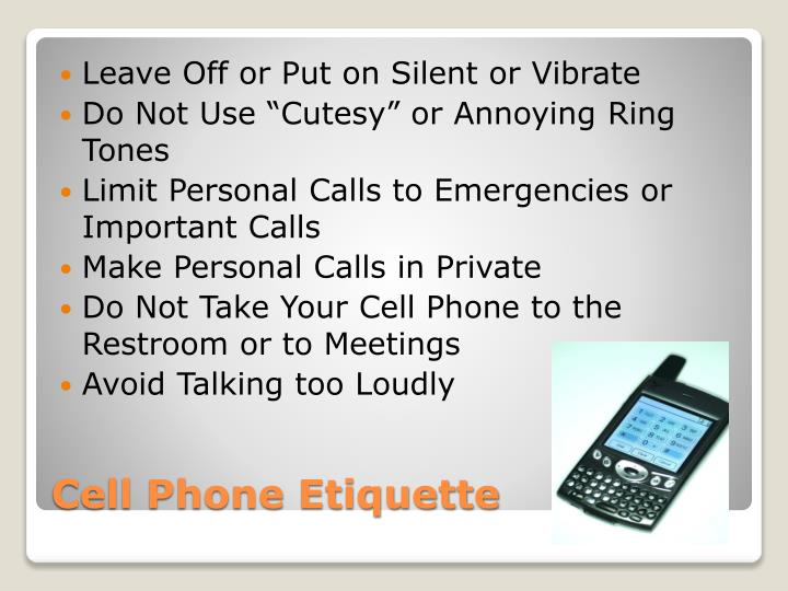 Leave Off or Put on Silent or Vibrate