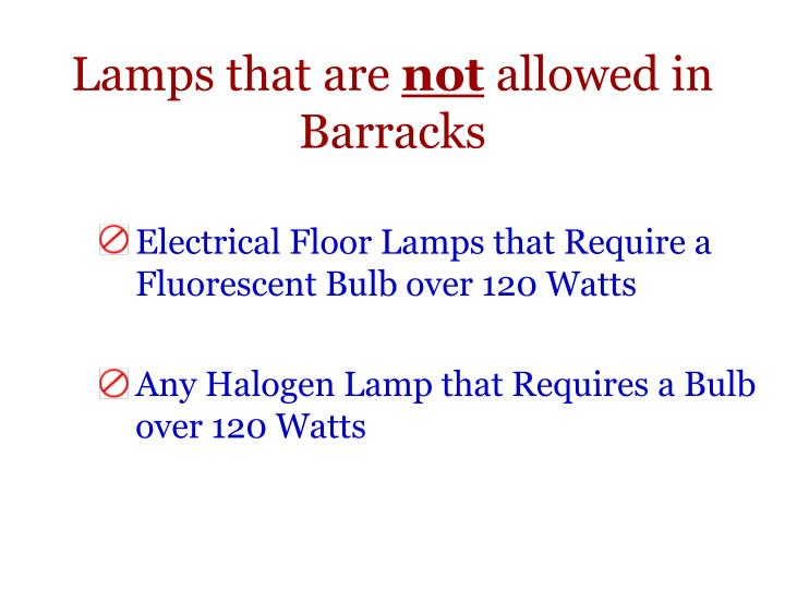 Lamps that are