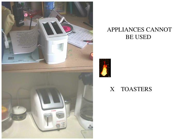APPLIANCES CANNOT