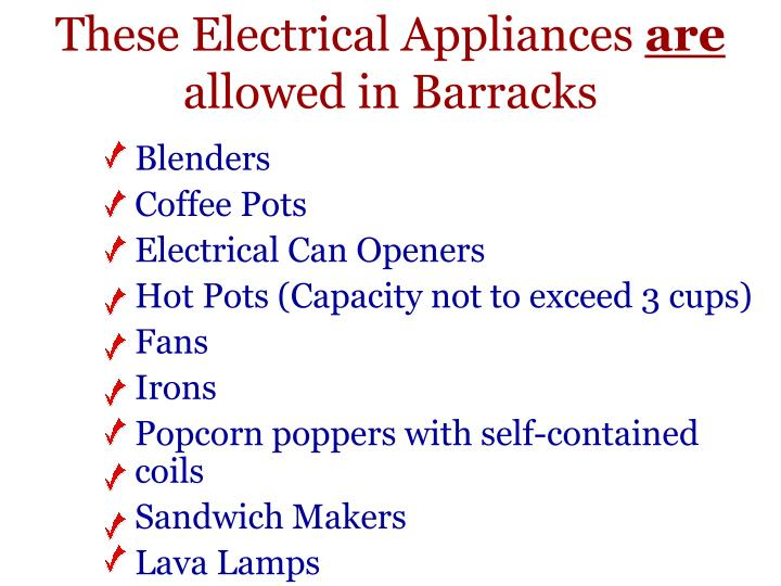 These Electrical Appliances