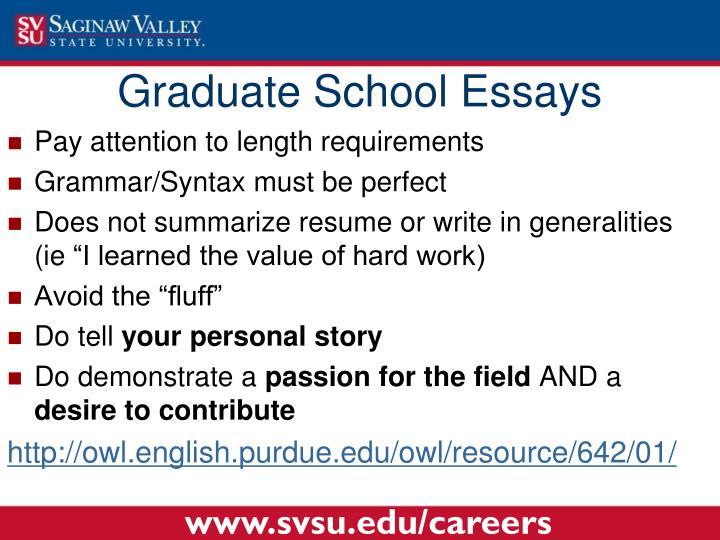 Graduate School Essays