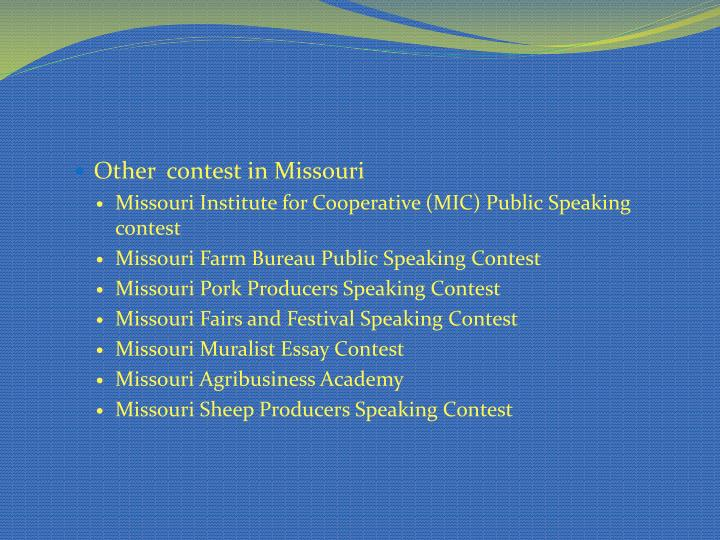 Other  contest in Missouri