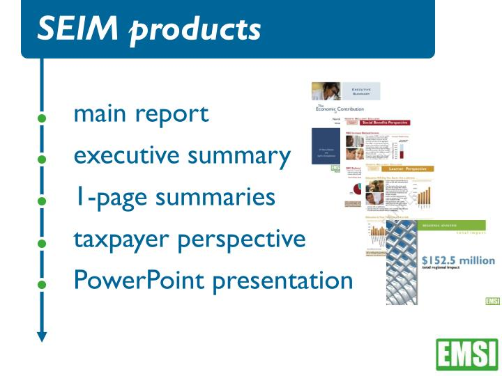 SEIM products