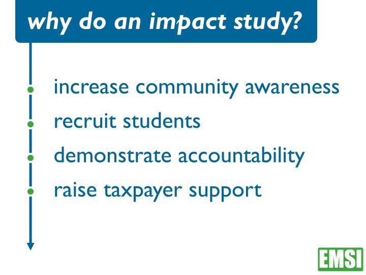 why do an impact study?