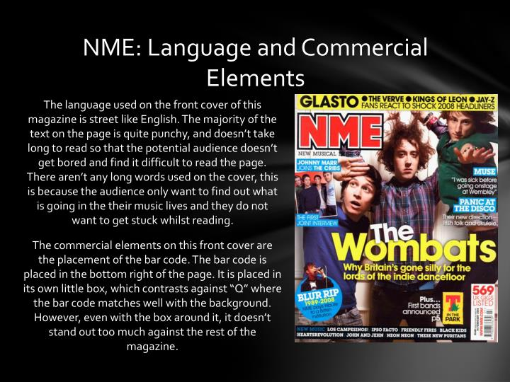 NME: Language and Commercial Elements