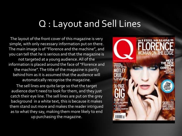 Q : Layout and Sell Lines