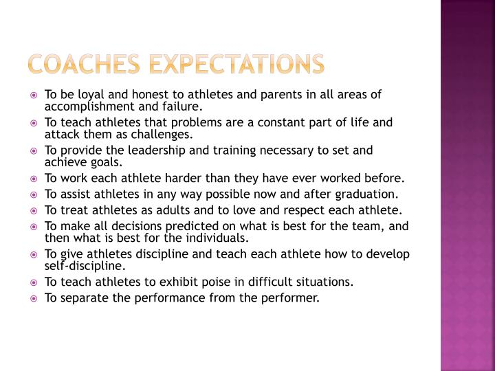 Coaches Expectations