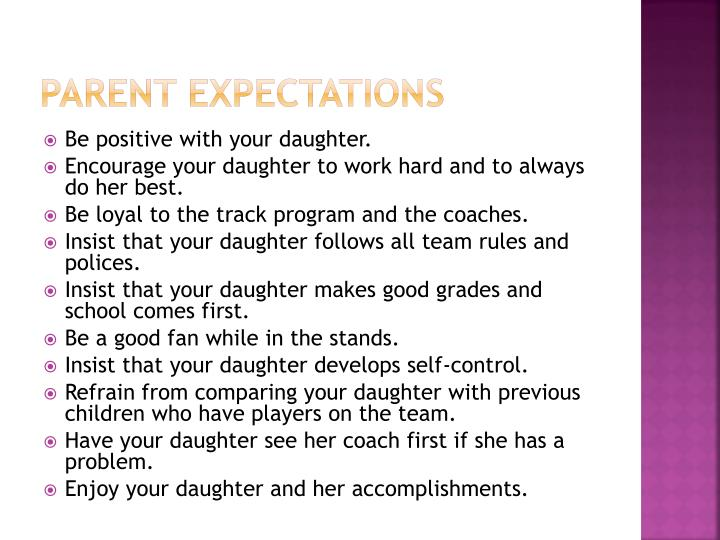 Parent Expectations