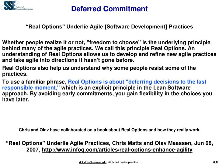 Deferred Commitment