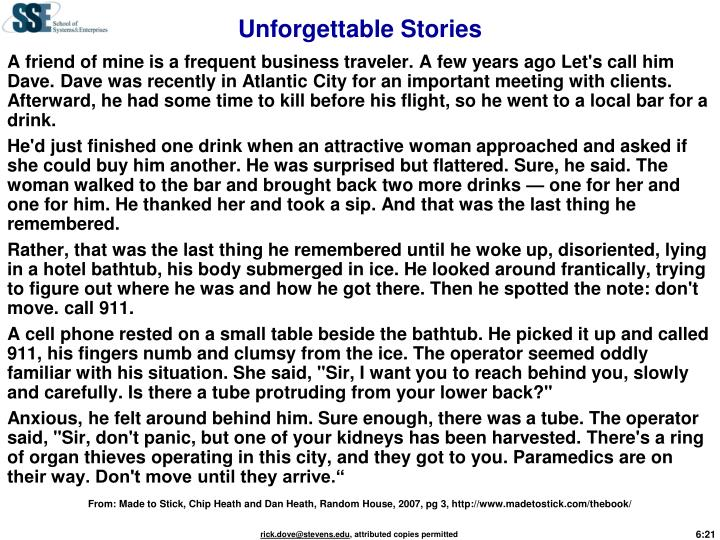 Unforgettable Stories