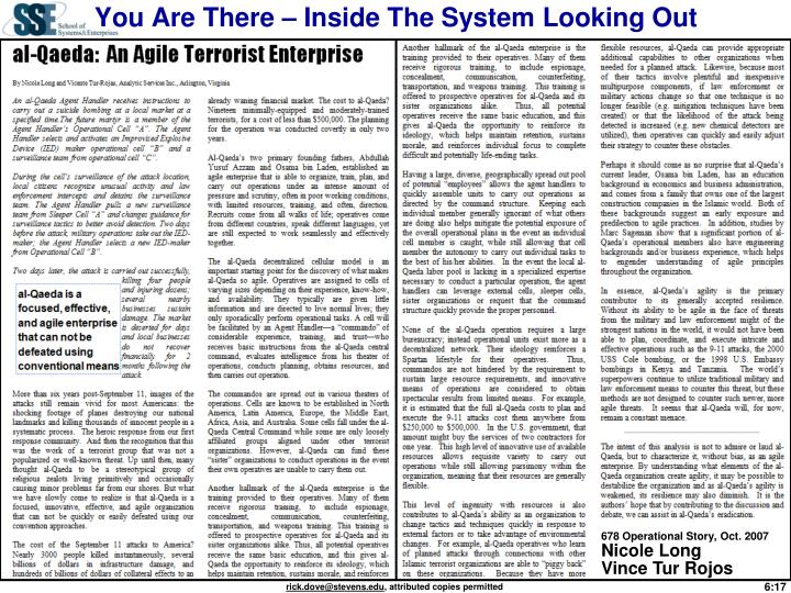 You Are There – Inside The System Looking Out