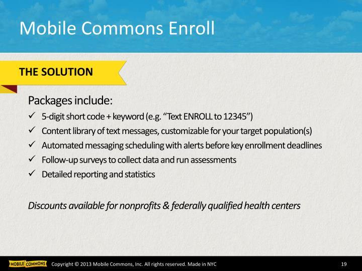 Mobile Commons Enroll