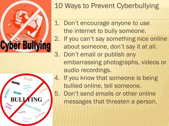 10 Ways to Prevent Cyberbullying