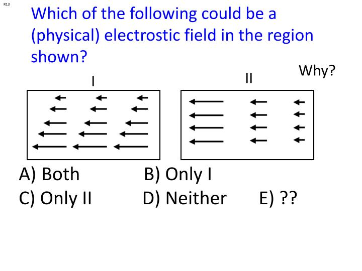 Which of the following could be a (physical) electrostic field in the region shown?