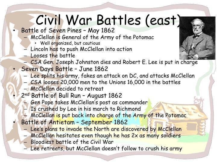 Civil War Battles (east)