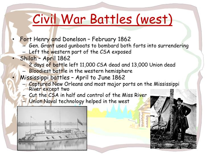 Civil War Battles (west)