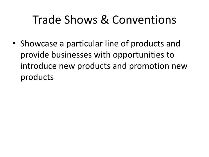 Trade Shows & Conventions