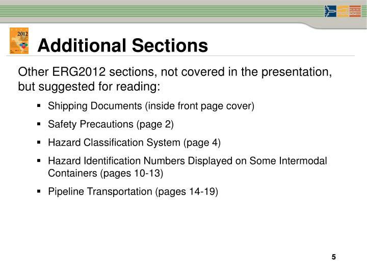 Additional Sections