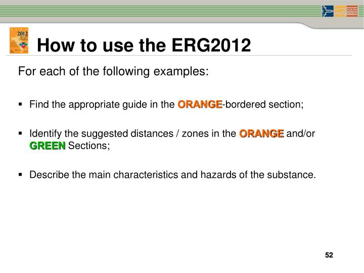 How to use the ERG2012