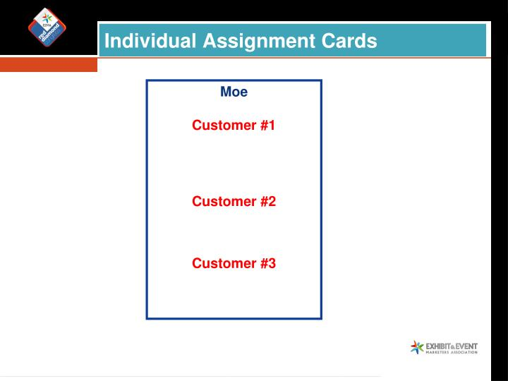 Individual Assignment Cards