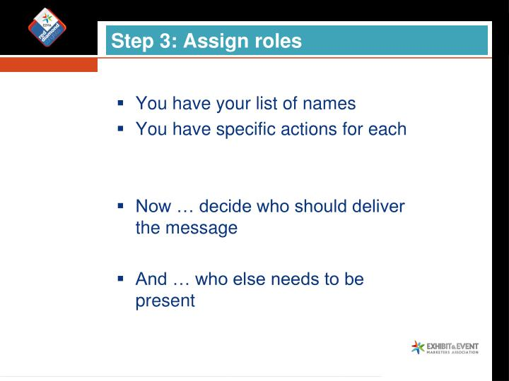 Step 3: Assign roles