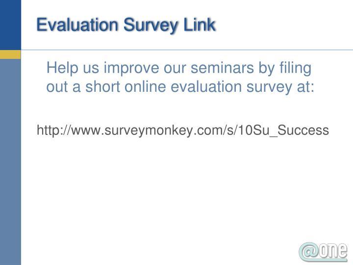 Evaluation Survey Link