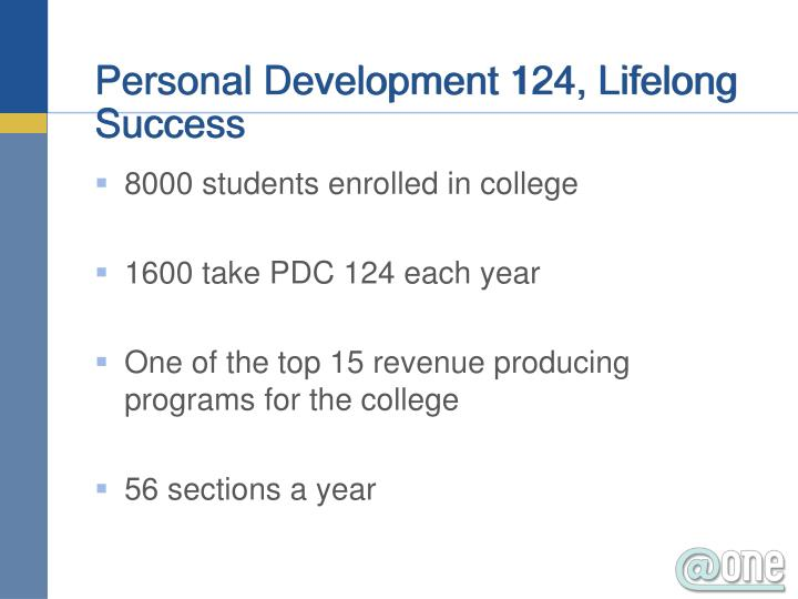 Personal Development 124, Lifelong Success