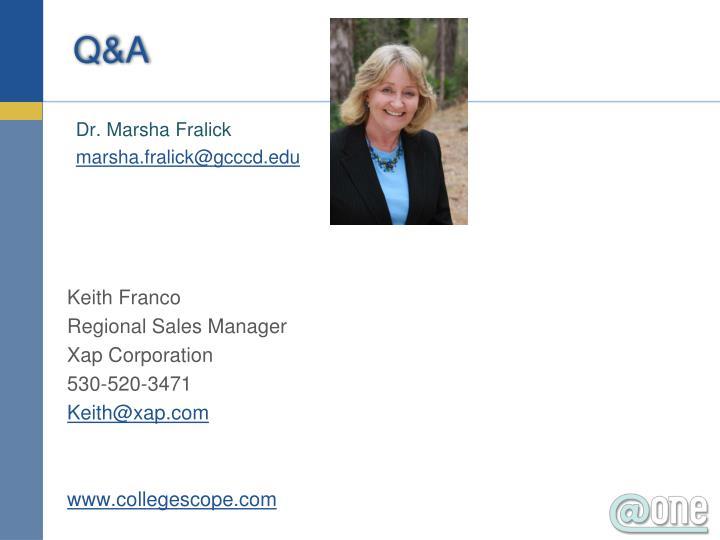 Dr. Marsha Fralick