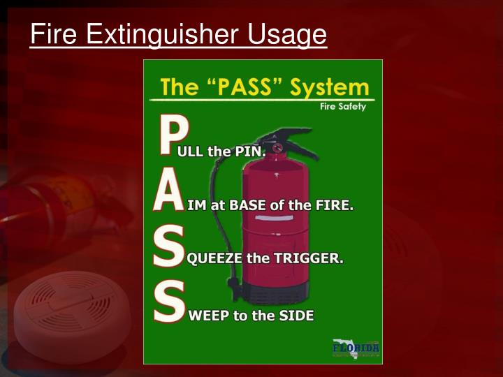 Fire Extinguisher Usage