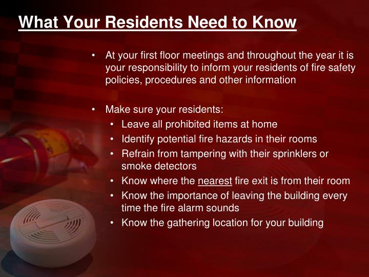 What Your Residents Need to Know
