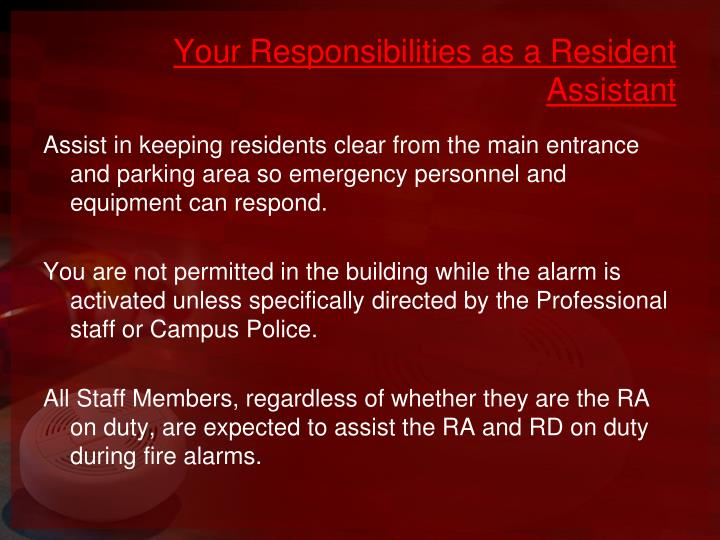 Your Responsibilities as a Resident Assistant