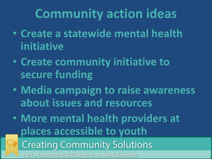 Community action ideas