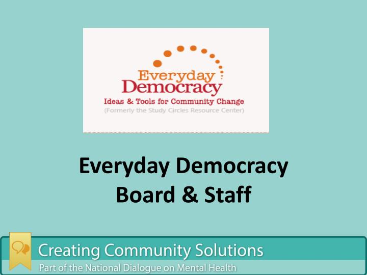 Everyday Democracy