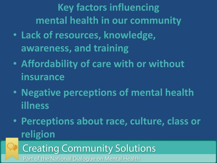 Key factors influencing