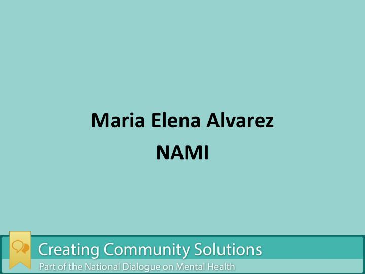 Maria Elena Alvarez