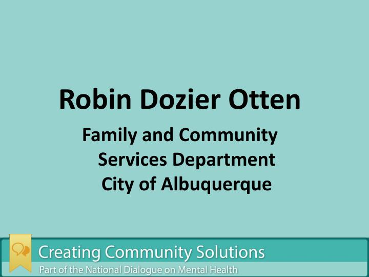 Robin Dozier