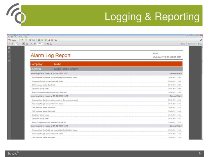 Logging & Reporting
