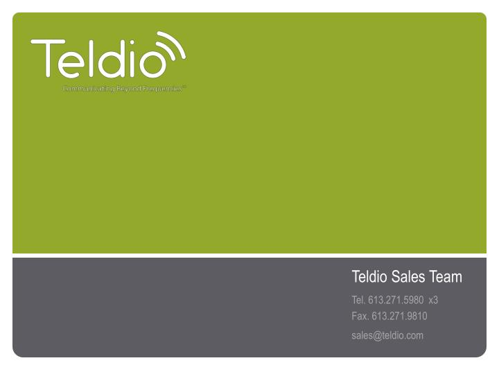 Teldio Sales Team