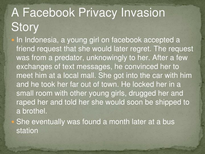 A Facebook Privacy Invasion Story