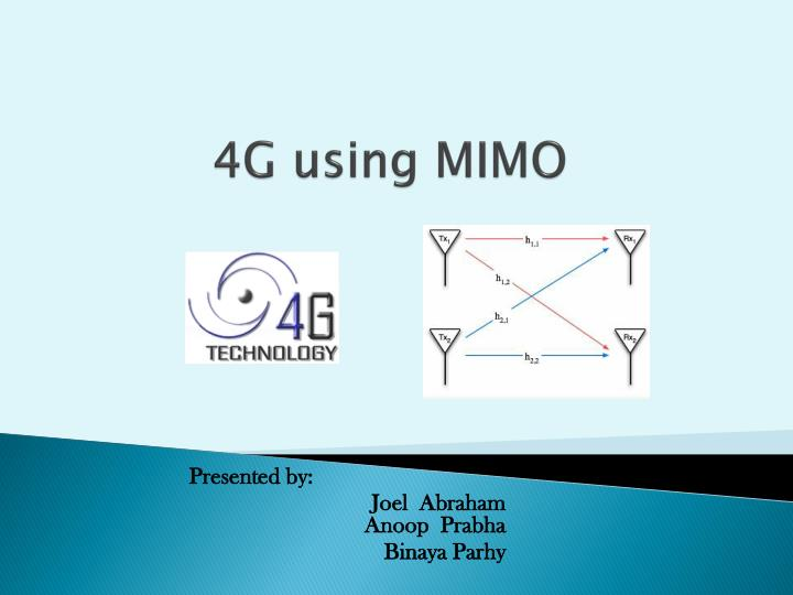4g using mimo