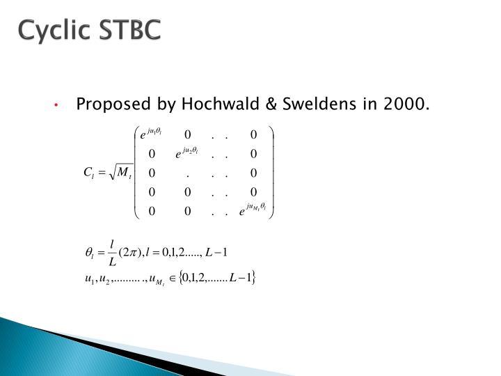 Cyclic STBC