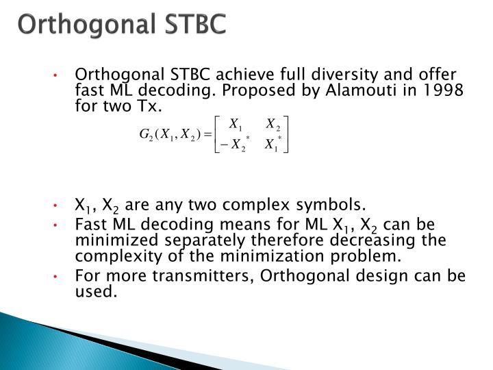 Orthogonal STBC