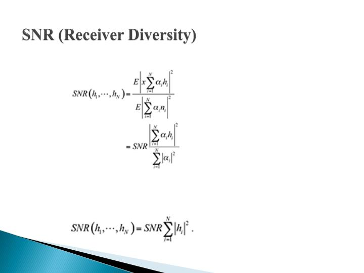 SNR (Receiver Diversity)